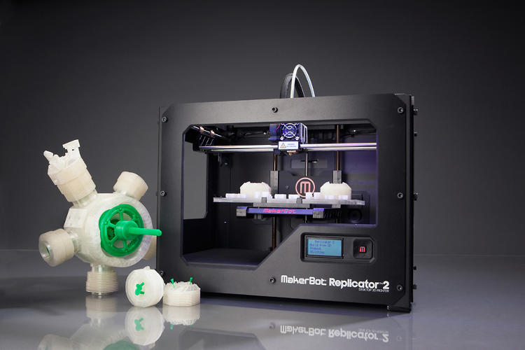 <p>The new model is 37% bigger than MakerBot's original. It prints with a far greater accuracy, too, at 100 microns per inch (one micron is about as thick as a piece of paper).</p>
