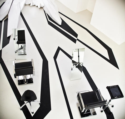 <p>At London Design Week, Zaha Hadid collaborated with haircare brand Fudge on a pop-up salon.</p>