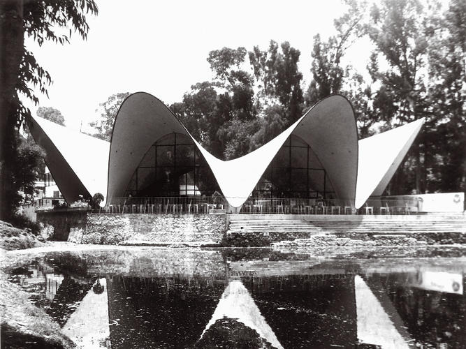 <p>&quot;Preferring form to mass, Candela used four thin hyperbolic parabolas to strengthen the combined wall and ceiling of the building.&quot;</p>