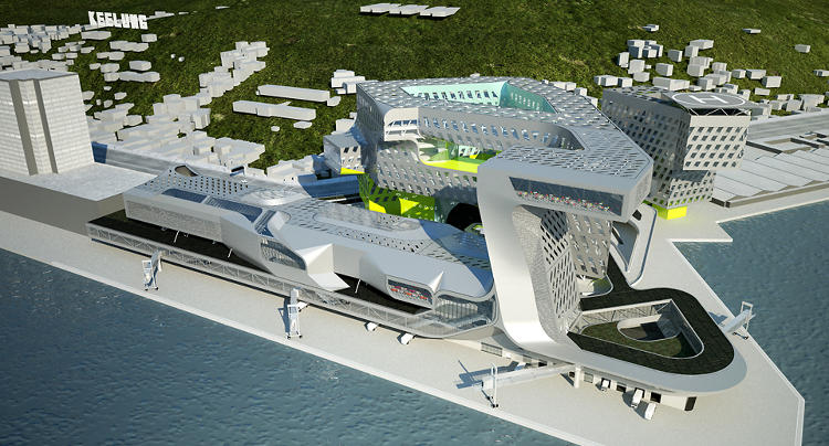 <p>Neil M. Denari Architects won an international competition to design Keelung's Harbor Service Building in 2013.</p>
