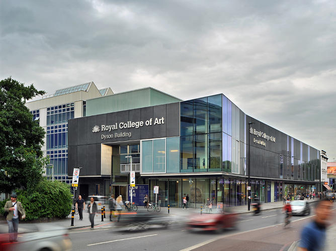 <p>The new building anchors the new RCA Battersea campus.</p>