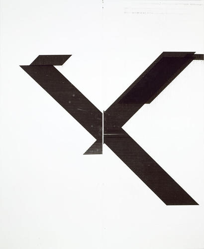 <p><em>Untitled</em> (2007). &quot;X&quot; became an important motif in Guyton's work, too, hinting at both commercial typography and embedded cultural associations. Originally, the shape emerged as a way for him to distance himself from physical drawing.</p>