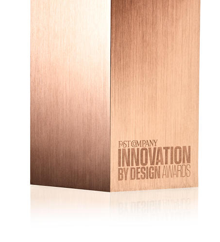 <p>The awards logo is etched on one side. On the opposite is the awardee's information.</p>