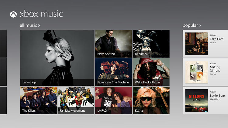 <p>Xbox Music has just made it to the 360. It will be in Windows 8 when it's released later this month.</p>