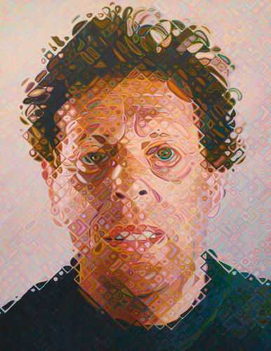 <p>The paintings will include new portraits of Close's longtime friend, Philip Glass. <em>Phil</em>, (2011-2012); oil on canvas.</p>