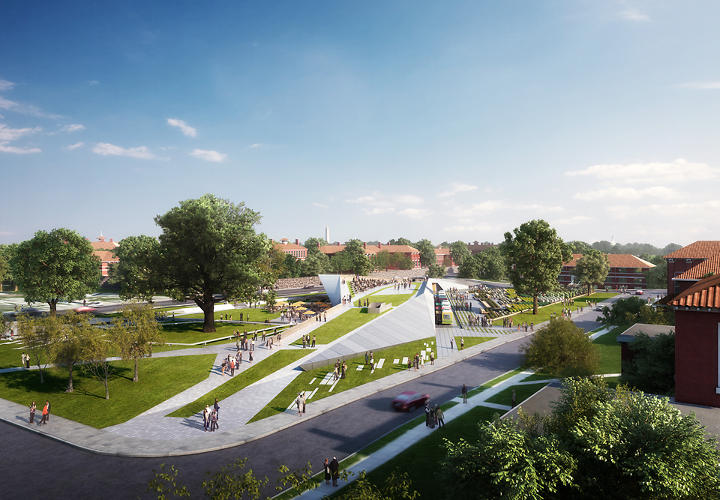 <p>Davis Brody Bond architects and planners won a design competition to revitalize the east campus of St. Elizabeth's Hospital in Washington DC with their Gateway Pavilion.</p>
