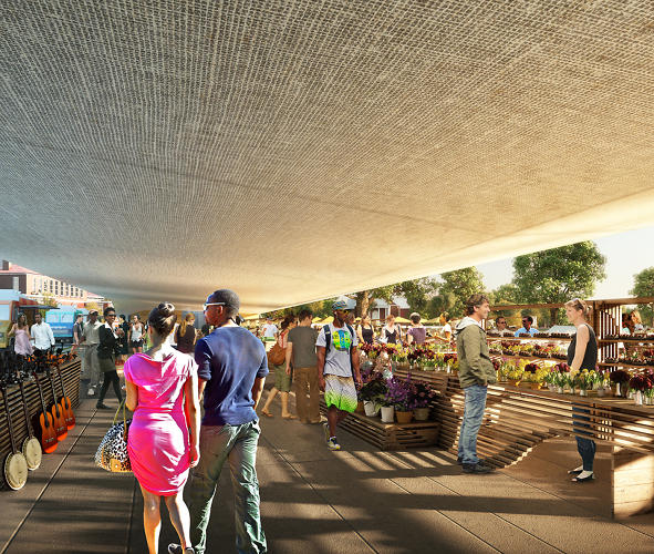 <p>And there are plans for an open-air farmer's market.</p>