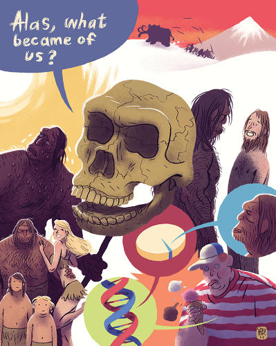 <p>What caused the extinction of Neanderthals? <br /> - Mikkel Sommer</p>