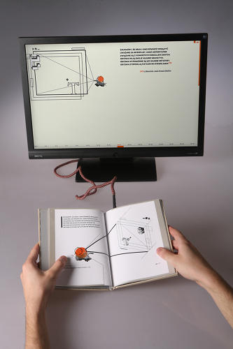 <p>Waldek Węgrzyn's Elektrobiblioteka is a novel take on the e-book; instead of making an electronic version of a paper text, he made the physical book an digital interface itself.</p>