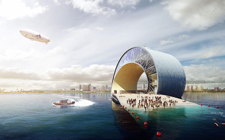 <p>Bjarke Ingels's design for the pier in St. Pete, called &quot;The Wave,&quot; ultimately lost out to Michael Maltzan Architecture's &quot;The Lens.&quot; Maltzan's design has proved controversial, and residents are now in a pitched battle over its future.</p>