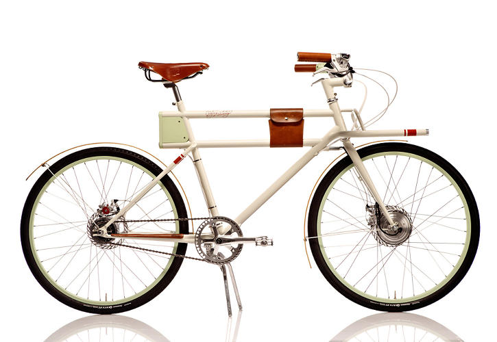 <p>The controversial <a href=&quot;http://www.fastcodesign.com/1670345/kickstarting-ideos-ultra-elegant-retro-cool-electric-bike#2&quot; target=&quot;_self&quot;>product of a collaboration between Ideo and Rock Lobster</a>, this rechargeable electric bike is the pretty, smart cousin of the more utilitarian versions you see all over the city. For the sweat-phobic commuter or heavy cargo hauler, it's hard to find a more handsome bike.</p>