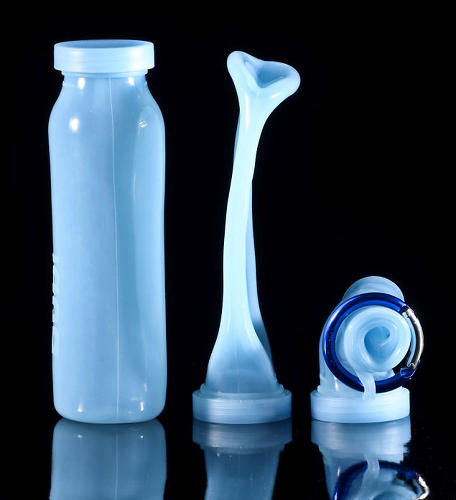 <p>The Bübi bottle is a handy vessel that collapses into a smaller package like a toothpaste tube with every sip you take, eventually <a href=&quot;http://www.fastcodesign.com/1669710/a-collapsible-water-bottle-that-fits-in-the-palm-of-your-hand&quot; target=&quot;_self&quot;>rolling up into a ball the size of your palm</a>. Unlike similar, cheaper variations on the <a href=&quot;http://www.fastcodesign.com/1669357/a-lightweight-reusable-water-bottle-that-rolls-up-for-easy-packing&quot; target=&quot;_self&quot;>scrunchable theme</a>, the Bübi is made from thick BPA-free silicone. <a href=&quot;http://bubibottle.com/&quot; target=&quot;_blank&quot;>It's available in assorted electric colors and in two sizes: 14 ounces ($20) and 22 ounces ($30)</a>.</p>