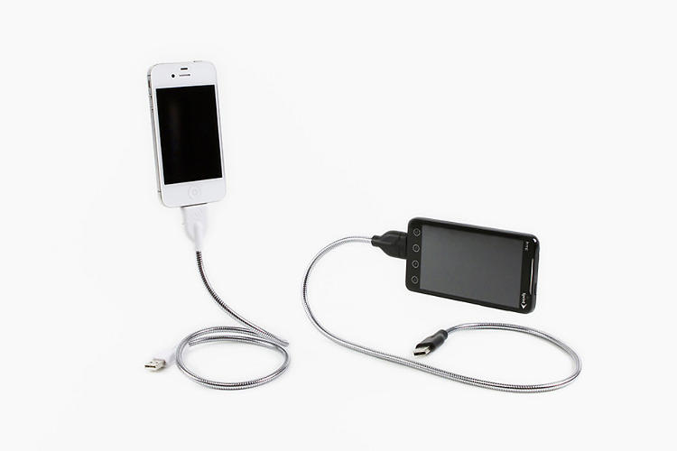 <p>Yeah, we'd be bummed if we got a dumb old smartphone cable in our stocking, too. But not so much if that cable happened to be <a href=&quot;http://www.fastcodesign.com/1670943/a-smartphone-charging-cable-thats-also-a-flexible-dock-and-tripod#1&quot; target=&quot;_self&quot;>the Bobine</a>--a cable stuffed inside a metal gooseneck that doubles as a positionable tripod and dock. In addition to doing its part to reduce the dreaded cable clutter, the Bobine is handy for propping a phone up while cooking in the kitchen or while taking a group photo on the go. <a href=&quot;http://www.fusechicken.com/&quot; target=&quot;_blank&quot;>Available in two sizes, $25 and $30 respectively, for smartphones that use MicroUSB and for 30-pin connector iPhones.</a></p>