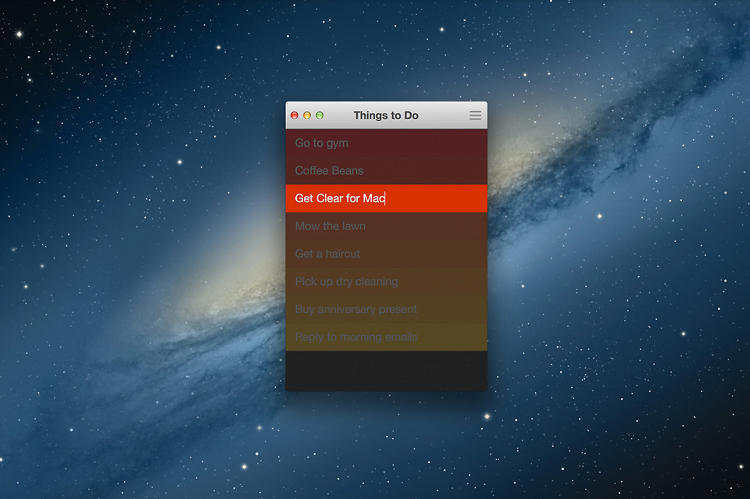<p>This lets Clear's desktop interface look and act 99% identical to its iOS counterpart, even down to the small, upright-rectangle shape of the window.</p>