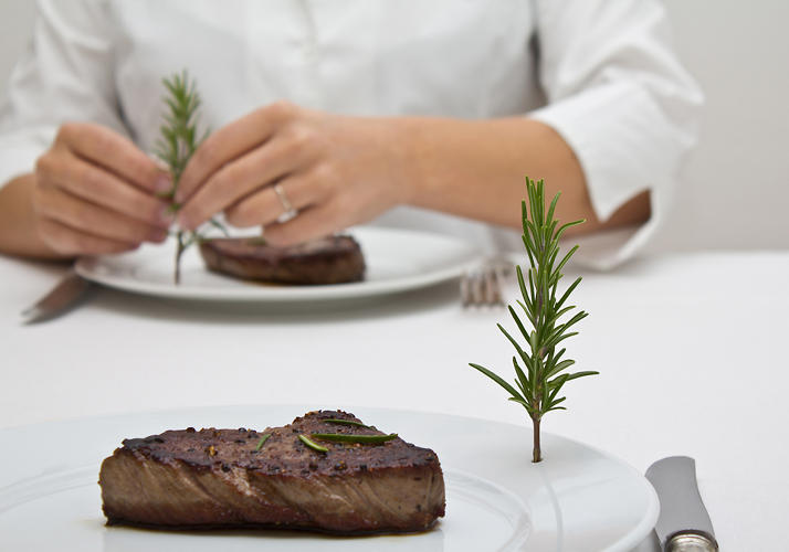 <p>Another concept from the group's Food Thinking project, Hol(e)y Plate, lets diners season their own dishes. &quot;Pick a leaf straight from your plate and enjoy your herbs as fresh as they can get.&quot;</p>