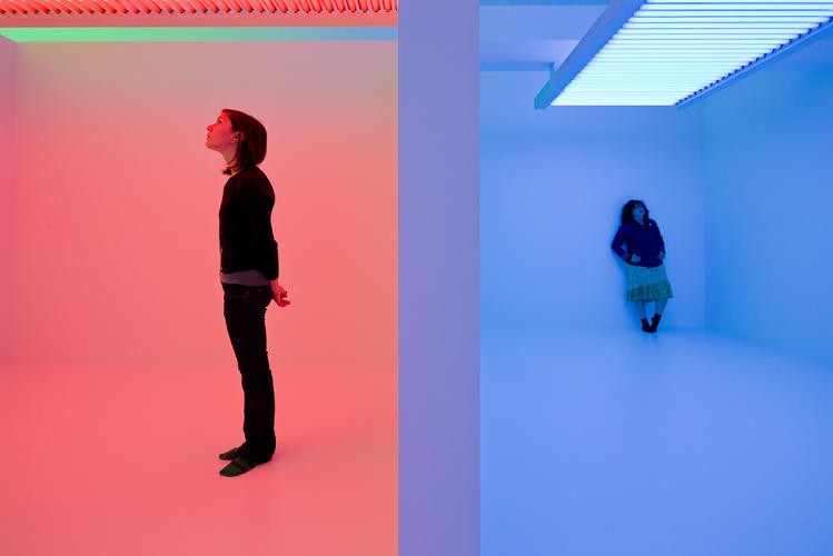 <p><em>Chromosaturation</em>, 1965, refabricated in 2010 at the Hirschhorn Museum in Washington, D.C.</p>