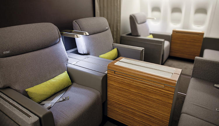 <p>TAM's new first class seats are modeled after high-end domestic furnishings and hotels.</p>