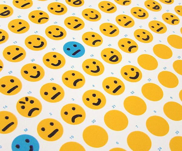 <p>The idea is to catalog each day with an emoticon showing how you felt--the ones shown here are fairly straightforward, but creativity is encouraged.</p>