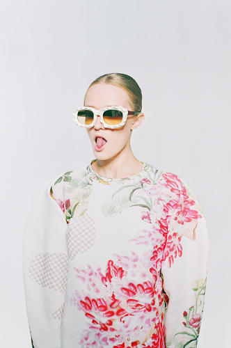 <p>A sweatshirt by Masha Reva, a Ukrainian designer whose prints are culled from dozens of sources across the web.</p>