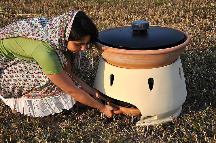 "<p><a href=&quot;http://www.fastcodesign.com/1670546/a-simple-solar-oven-makes-salt-water-drinkable#1&quot; target=&quot;_self&quot;>A Simple Solar Oven Makes Salt Water Drinkable</a><br /> Designer Gabriele Diamanti designed this simple terracotta oven to solve a problem that's plagued humans for ages. Users pour salt water into the basin in the morning. Then, as the temperature rises over the course of the day, steam moves downwards and is condensed into fresh, drinkable water. A clay carrying tray--designed to be toted on the head--transports the water back to camp. ""The idea is that instructions for the project can be delivered to craftsmen,"" said Diamanti, who won a Core77 Design Award for the project.</p>"