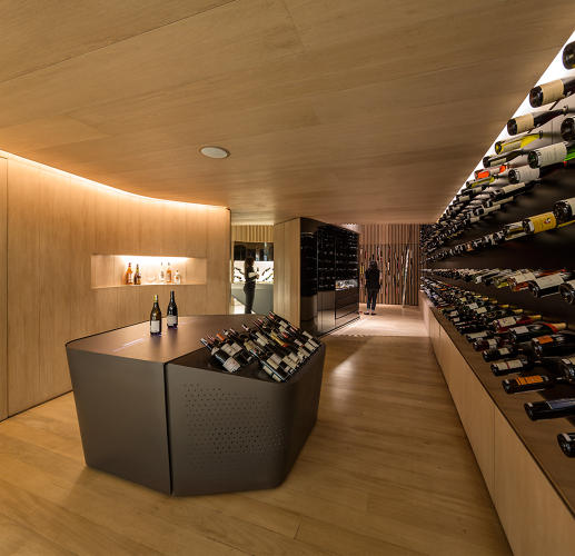 <p>There are a series of different zones in the store; sales, cellar, storage, interactive gallery, and reading room.</p>