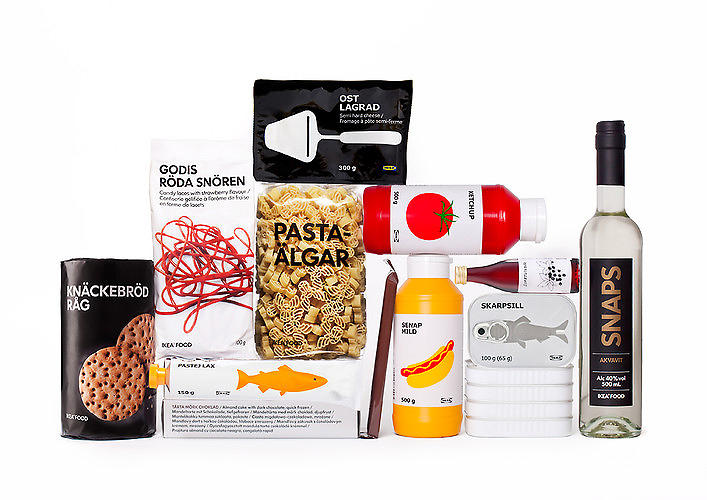 <p>Ikea turned to <a href=&quot;http://www.stockholmdesignlab.se/&quot; target=&quot;_blank&quot;>Stockholm Design Lab</a> to create minimalist packaging that would convey the Scandinavian delicacies inside at a glance, even while retaining their traditional Swedish names. <a href=&quot;http://www.fastcodesign.com/1670131/ikea-s-new-food-packaging-makes-crab-paste-look-good#1&quot; target=&quot;_self&quot;>The result</a>: With the visual aid of a fish printed on a can, a consumer can easily translate &quot;skarpsill&quot; into &quot;sardine.&quot;</p>