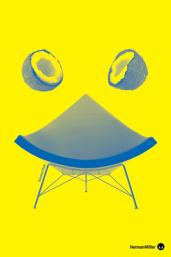 <p>A cute pun on the Nelson Coconut Chair by Jonathan Zawada.</p>