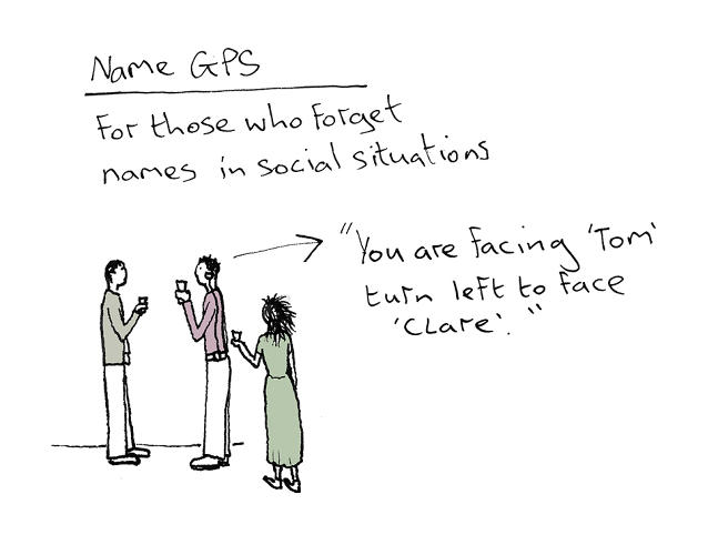 <p>Particularly relevant, to me at least, is a name-specific GPS for those of us who have trouble remembering them.</p>