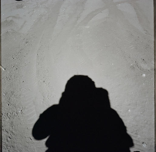 <p><strong>Selfie</strong><br /> View of Station Lunar Module, Panoramic taken during the third Extravehicular Activity of the Apollo 17 mission.</p>