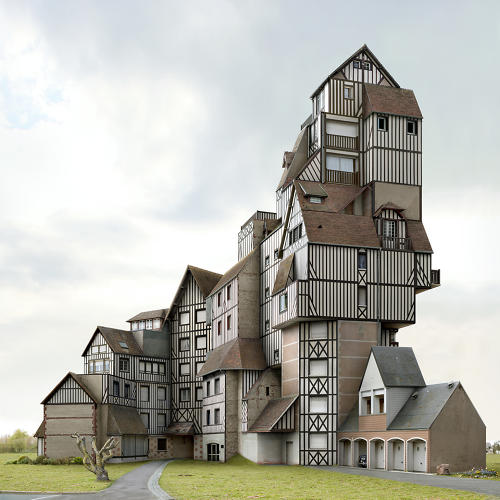 <p>A medieval German townhouse is perverted into a suburban McMansion.</p>