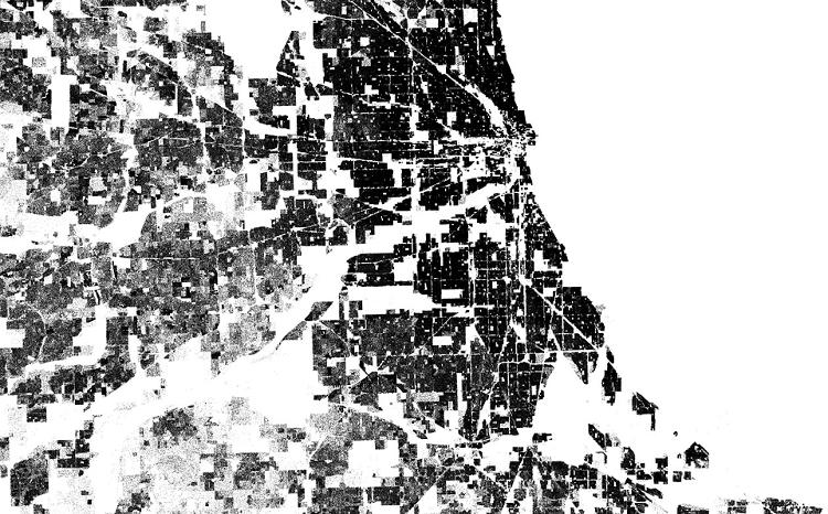 <p>Here's a close-up of Chicago and surrounding areas.</p>