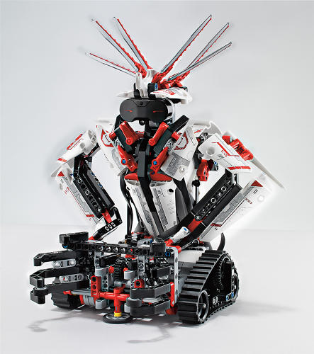 <p>Mindstorms EV3 are the latest edition of Lego's programmable robotic expansion. The newest model incorporates new sensors, and an app that allows the robots to be controlled by waving around your iOS or Android device.</p>