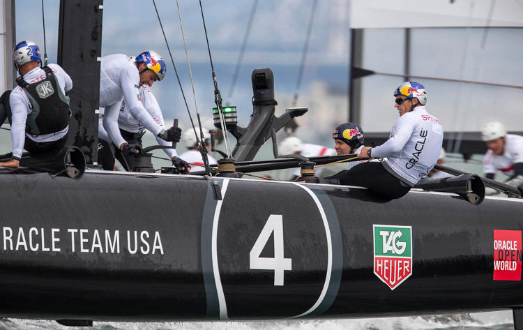 <p>Ruckus's smart Wi-Fi technology continuously steers Oracle Team USA's boats around obstacles as environmental conditions change. That data also helps Oracle Team USA design future catamarans.</p>