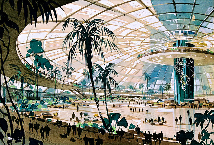 <p><em>Never Built</em>, an upcoming exhibition at L.A.'s Architecture and Design museum, will display projects from the past century that never saw completion. Here, a stunning dome for LAX.</p>