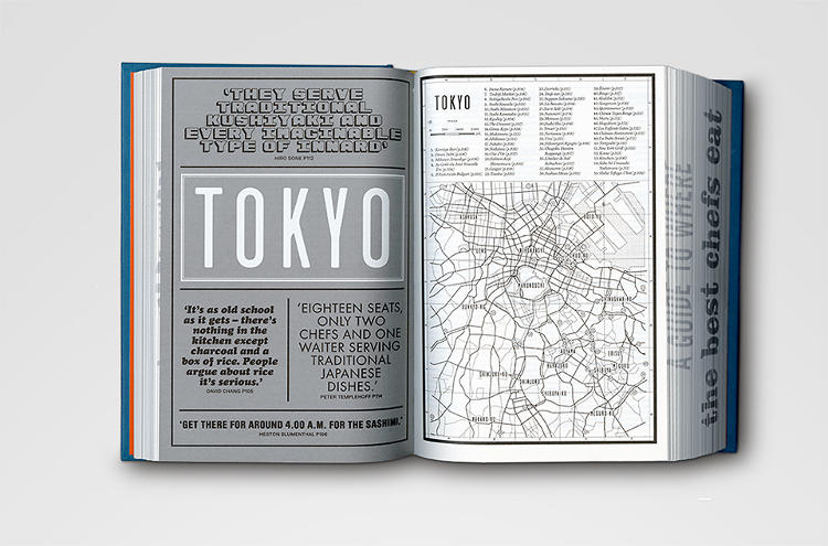 <p>Israeli-born designer Kobi Benezri created the book's layout and visual identity, choosing over 50 fonts for use throughout the dense tome.</p>