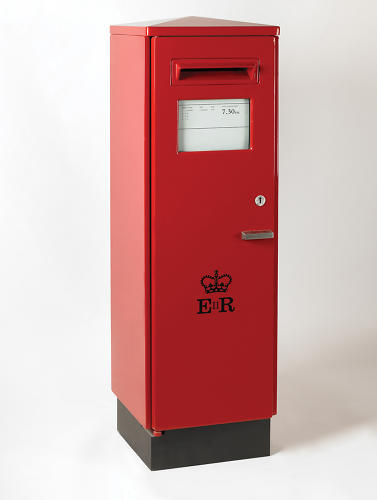 <p>The exhibit includes plenty of familiar British objects, like this postbox designed by David Mellor.</p>