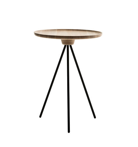 <p>Key, a tripod side table by Gamfratesi.</p>