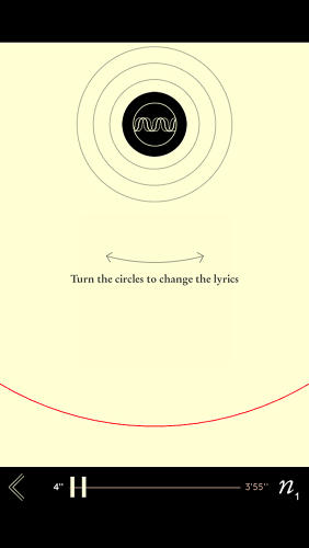 <p>In one, users spin a wheel to choose the lyrics they want to hear next.</p>