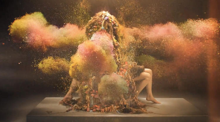 <p>In the first (and freakiest) part, we watch as a beautiful, insatiable coral-like thing consumes two silent humans.</p>