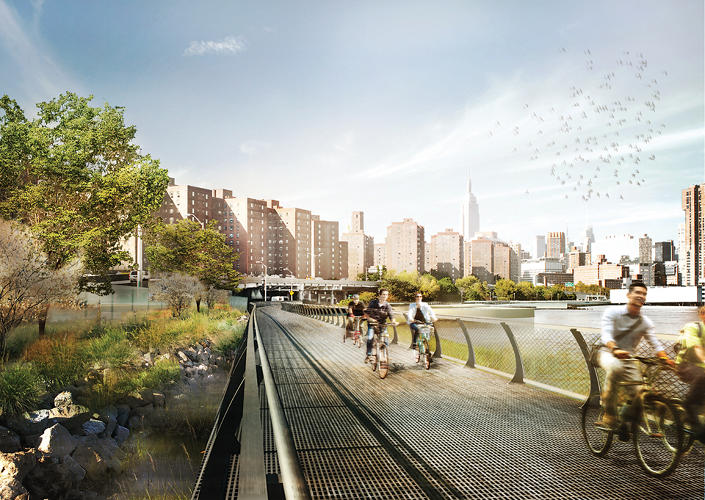 <p>The plan includes redesigned bike and pedestrian paths.</p>