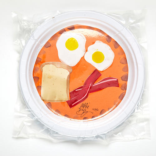 <p><strong>Breakfast</strong>, by Wylie Dufresne<br /> &quot;Breakfast, it never goes out of fashion.&quot; (What he's not telling you is that those eggs are made out of insect larvae.)</p>