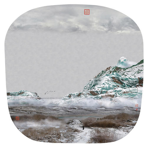 <p>Lu's images are easily mistaken for 10th-century Chinese landscape paintings. <em>Birds and Snow in the Cold Dusk</em>, 2008.</p>