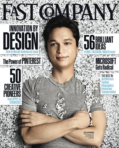 <p>Every finalist in the awards will be featured in <em>Fast Company</em>'s October 2013 design issue. Here is the cover from last year's issue.</p>