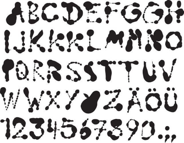 <p>The full typographic alphabet.</p>