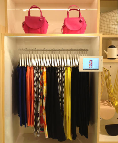 <p>Because these iPads are placed directly alongside various clothing nooks, which means they have real-world relevance.</p>
