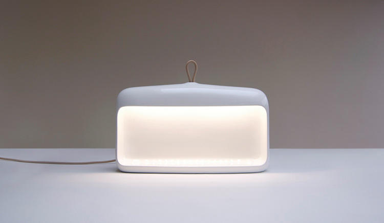 <p>The fixture itself is shaped a bit like a cavern, with ambient LEDs emitting a gentle glow from the open rectangular facade.</p>