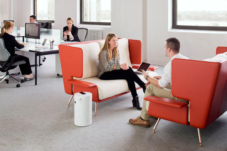 <p>Knoll Activity Spaces include a number of casual workspaces, including semi-secluded seating for open office plans. This image shows other pieces from the collection, which weren't designed by Antenna.</p>