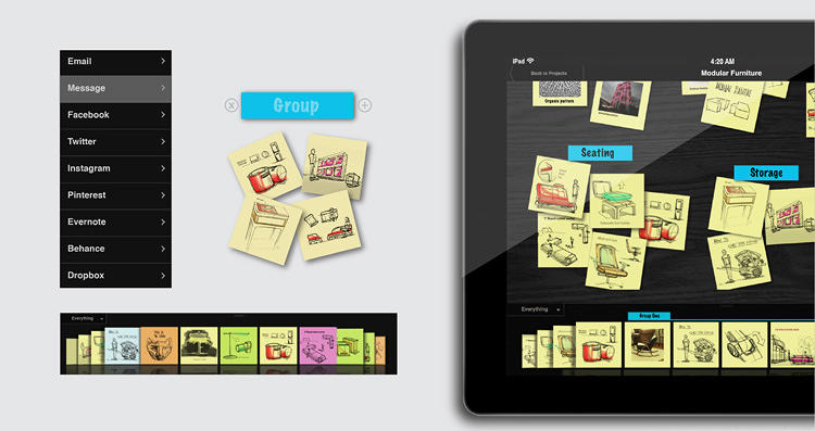 <p>Sticky Storm, a concept from Scott Wilson's studio, Minimal, re-imagines the sticky note as an app.</p>