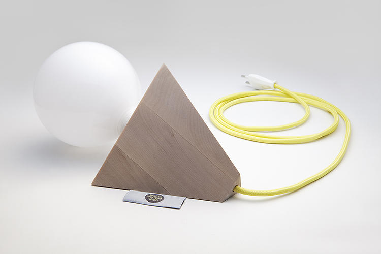 <p>The Relight lamp allows the bulb itself to shine brightly, sans-shade, as a major part of the fixture's form.</p>