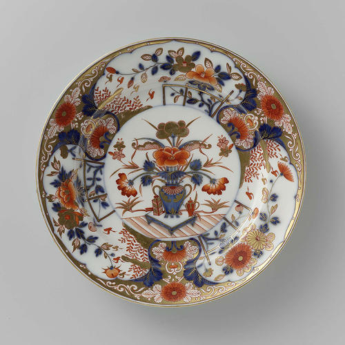<p>This plate with Imari decor from a porcelain factory on the Amstel dates way back to 1784 to 1814.</p>